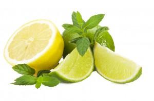 Zitrone geschnitten
